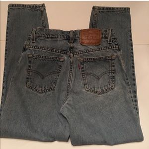 VTG 550 LEVIS HIGH WAISTED MOM JEANS 90 RARE 7JRS